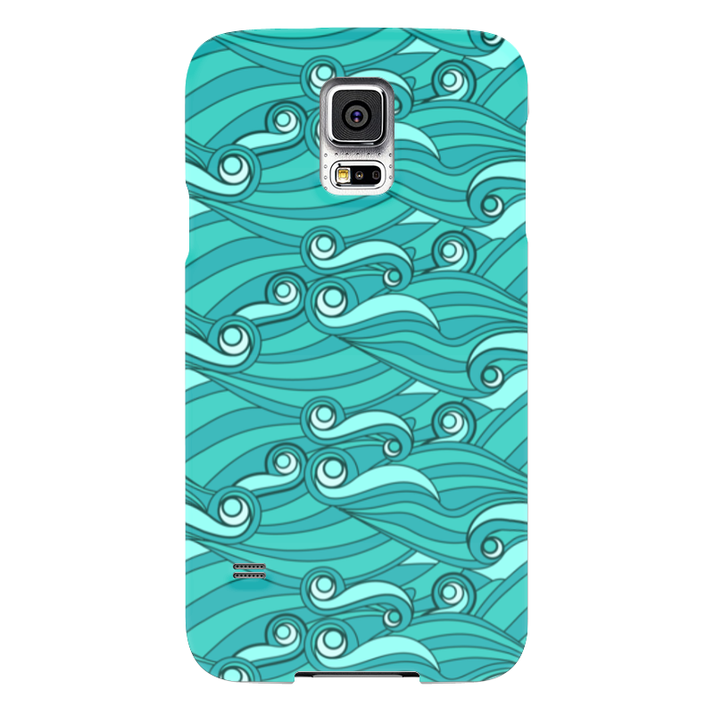 Чехол для Samsung Galaxy S5 Printio Зелёные волны samsung g900h galaxy s5 16гб белый в омске