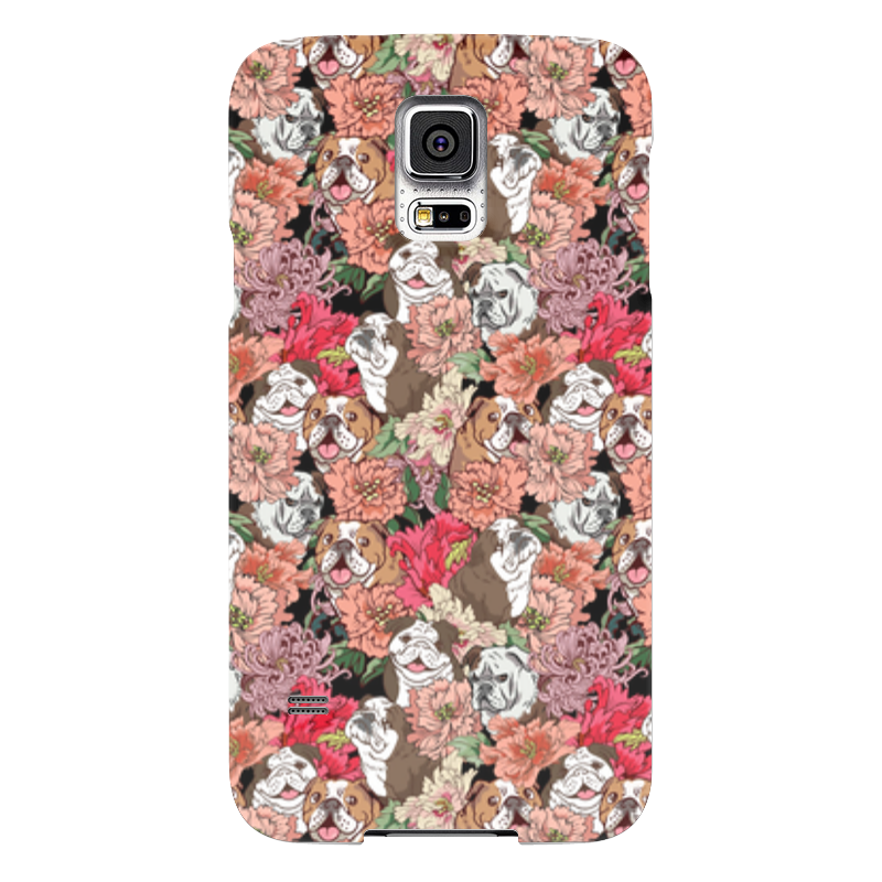 Чехол для Samsung Galaxy S5 Printio Dogs and flowers чехол для samsung galaxy s5 printio череп художник
