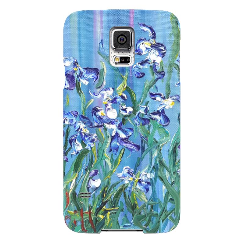 Чехол для Samsung Galaxy S5 Printio Ирисы чехол для samsung galaxy s5 printio череп художник