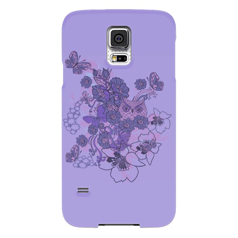 Чехол для Samsung Galaxy S5 Printio Сова в цветах чехол для samsung galaxy s5 printio композиция в сером