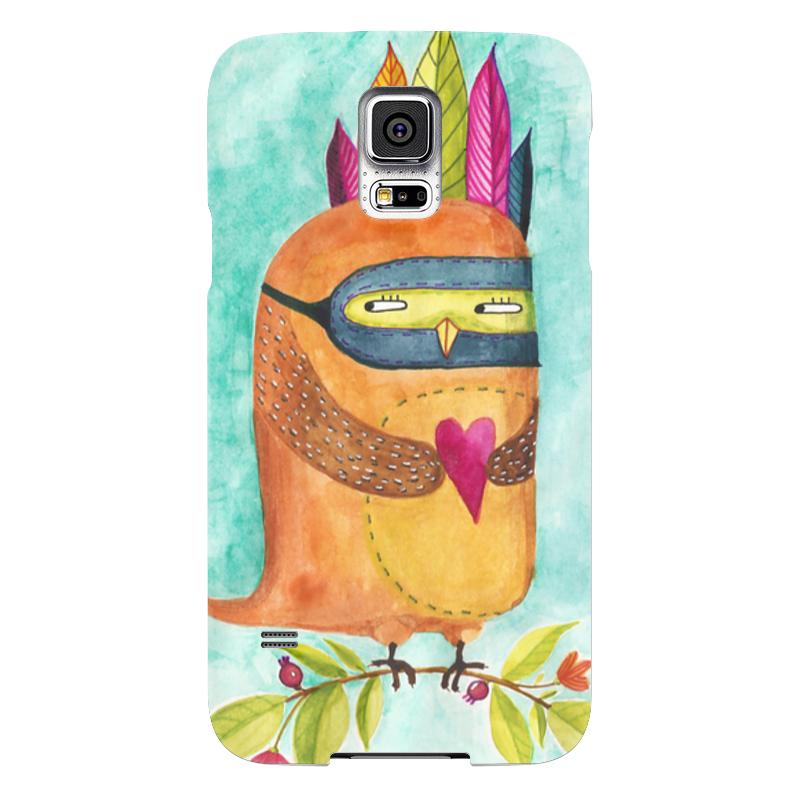 Чехол для Samsung Galaxy S5 Printio Рыжая сова индеец
