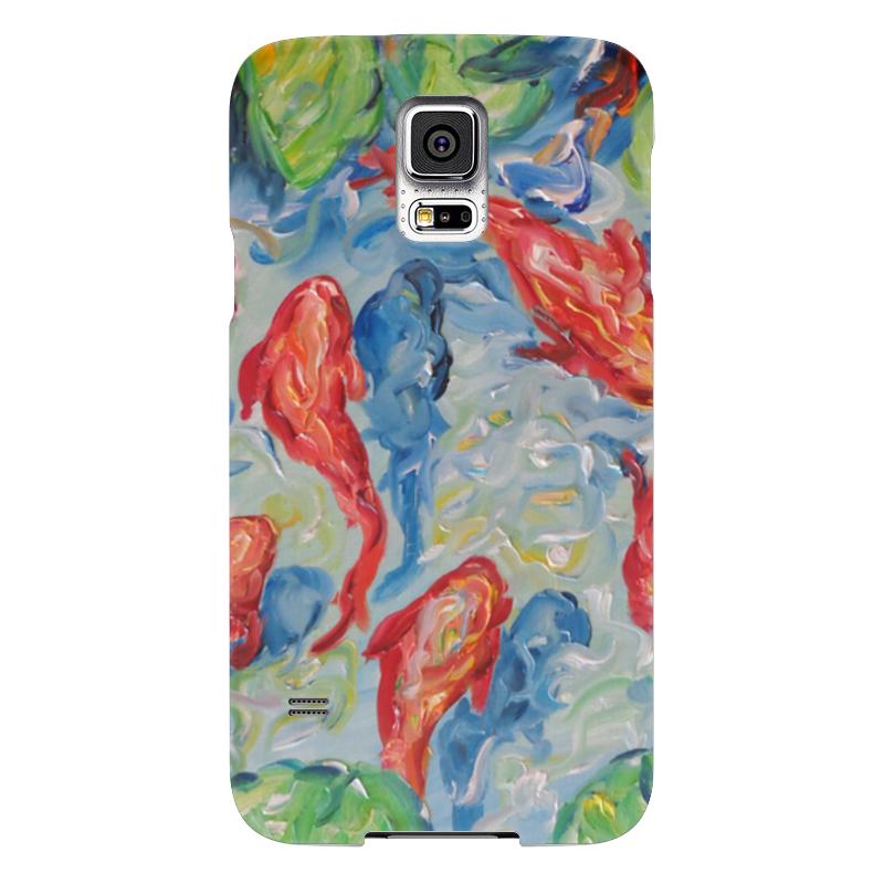 Чехол для Samsung Galaxy S5 Printio Золотые рыбки чехол для samsung galaxy s5 printio череп художник