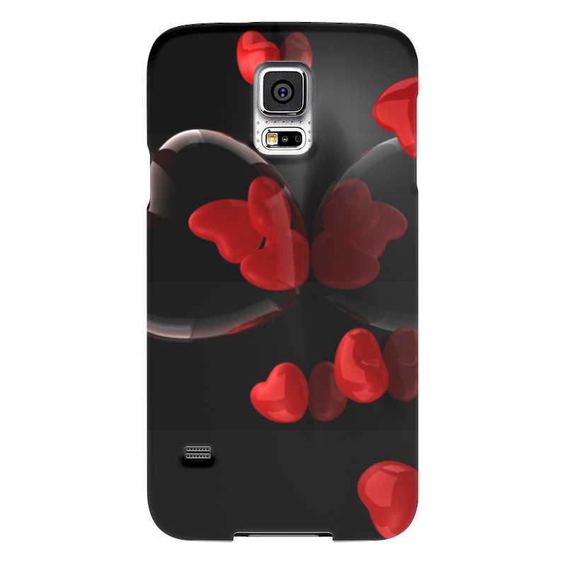 Чехол для Samsung Galaxy S5 Printio Сердечки чехол для samsung galaxy s5 printio череп художник