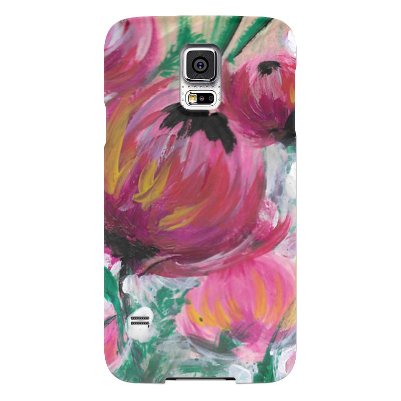 Чехол для Samsung Galaxy S5 Printio Полевые цветы чехол для samsung galaxy s5 printio череп художник