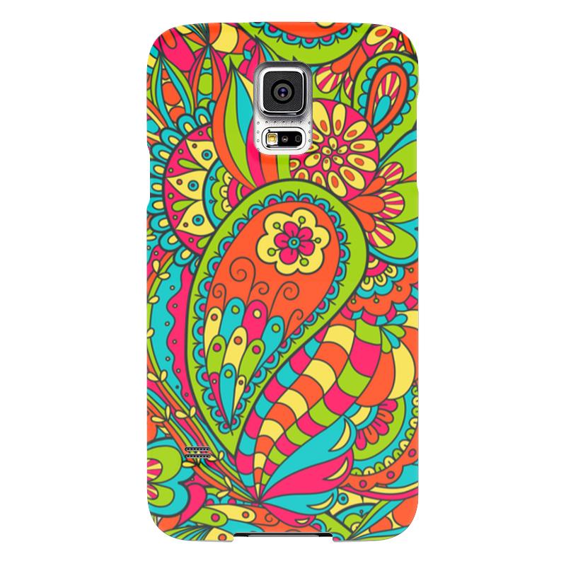 Чехол для Samsung Galaxy S5 Printio Цветочный дудл чехол для samsung galaxy s5 printio череп