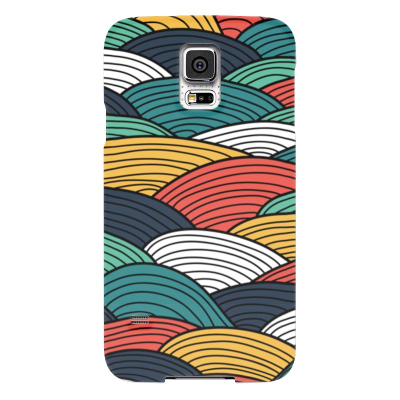Чехол для Samsung Galaxy S5 Printio Цветные волны чехол для samsung galaxy s5 printio череп художник