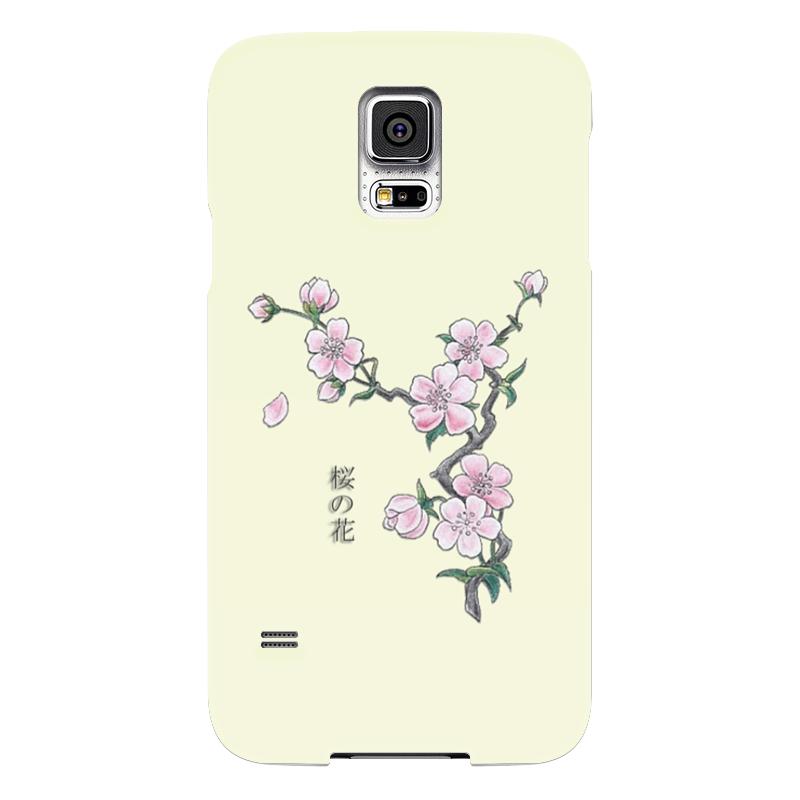 Чехол для Samsung Galaxy S5 Printio Японская сакура как распила из японии на запчасти