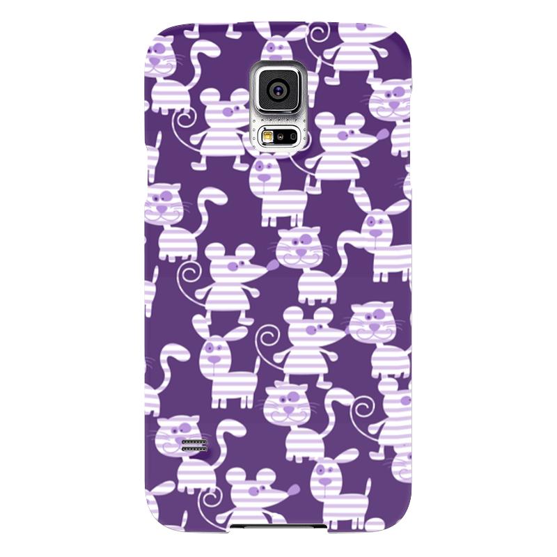Чехол для Samsung Galaxy S5 Printio Коты, мыши и собаки чехол для samsung galaxy s5 printio череп художник