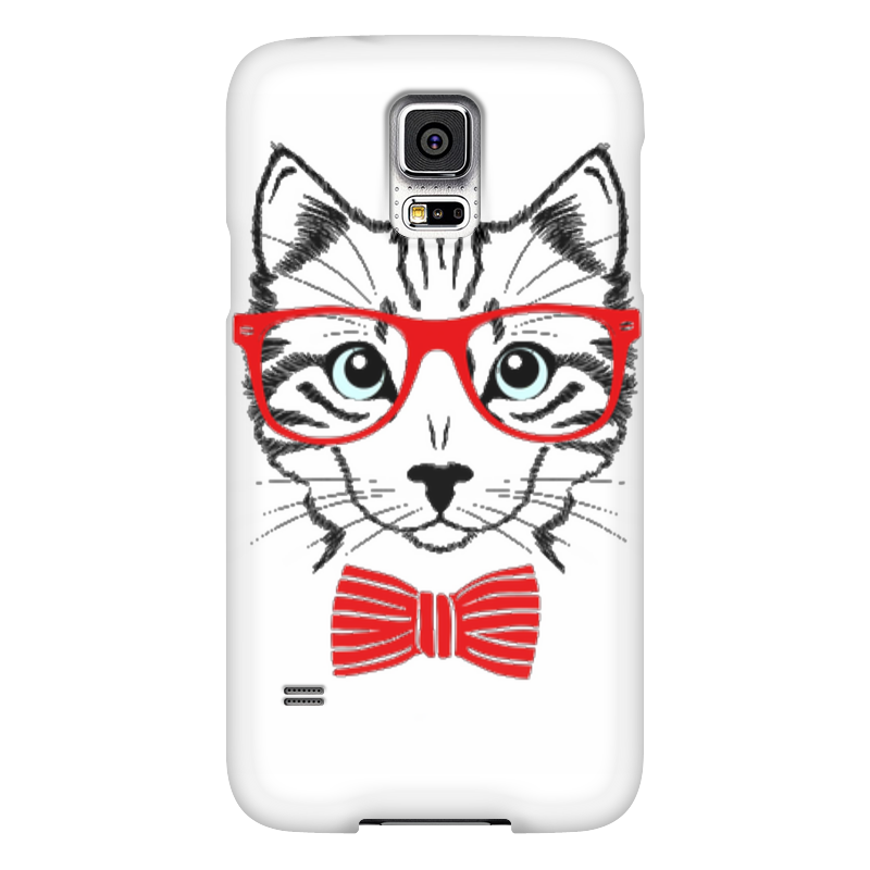 Чехол для Samsung Galaxy S5 Printio Кошка чехол для samsung galaxy s5 printio череп художник