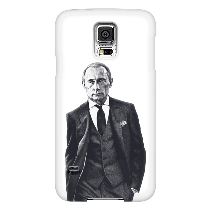 Чехол для Samsung Galaxy S5 Printio Путин в костюме чехол jekod для samsung galaxy s5 белый