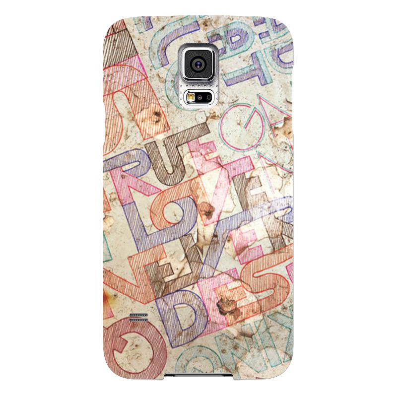 Чехол для Samsung Galaxy S5 Printio Шрифтовая композиция чехол для samsung galaxy s5 printio барселона на samsung galaxy s5