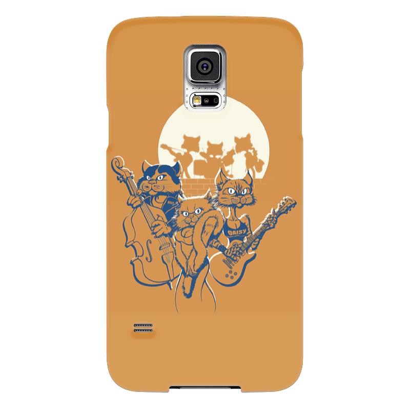 Чехол для Samsung Galaxy S5 Printio Кошачий концерт чехол для samsung galaxy s5 printio череп художник