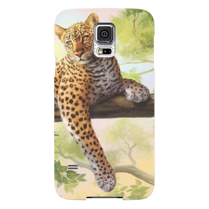 Чехол для Samsung Galaxy S5 Printio Леопард чехол для samsung galaxy s5 printio череп художник