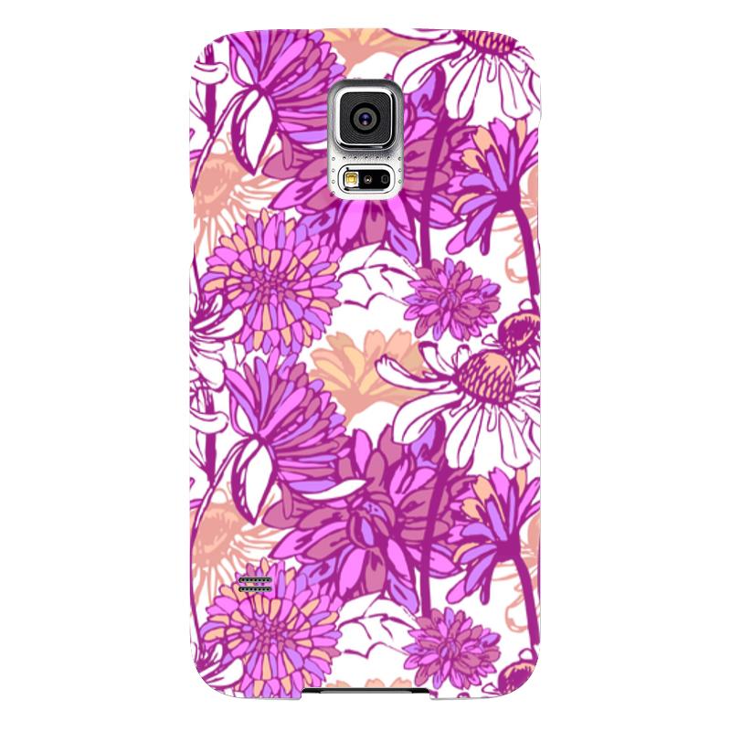 Чехол для Samsung Galaxy S5 Printio Purple blossom чехол для samsung galaxy s5 printio череп художник