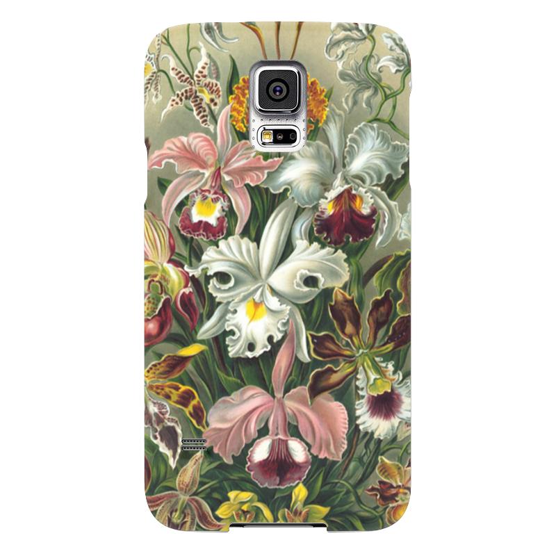 Чехол для Samsung Galaxy S5 Printio Орхидеи (orchideae, ernst haeckel)