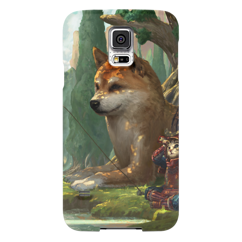 Чехол для Samsung Galaxy S5 Printio Samurai cat чехол для samsung galaxy s5 printio стимпанк голова