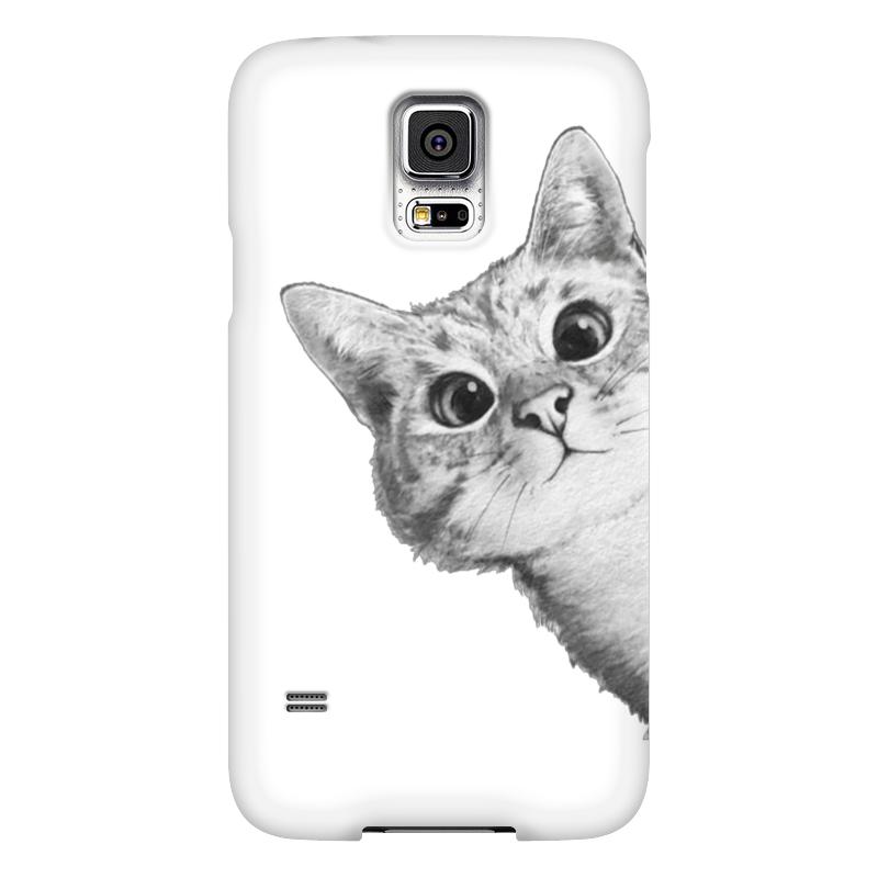 Чехол для Samsung Galaxy S5 Printio Любопытный кот чехол для samsung galaxy s5 printio стимпанк голова