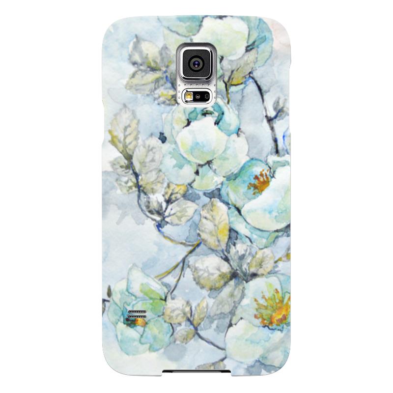 Чехол для Samsung Galaxy S5 Printio Белый шиповник чехол jekod для samsung galaxy s5 белый