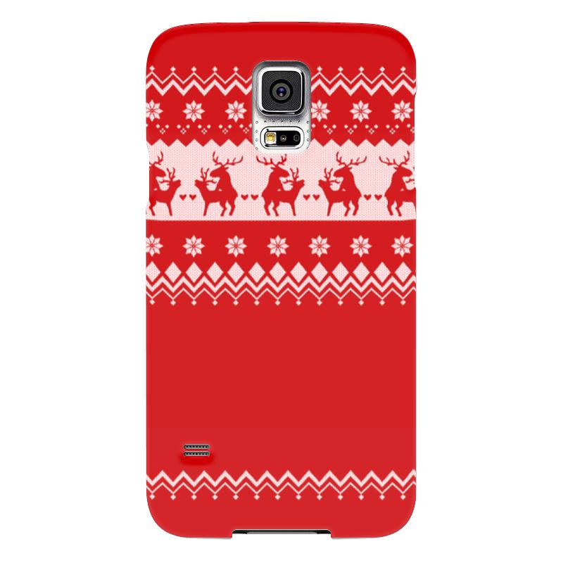 Чехол для Samsung Galaxy S5 Printio Олени праздничные чехол для samsung galaxy s5 printio товарищеский матч