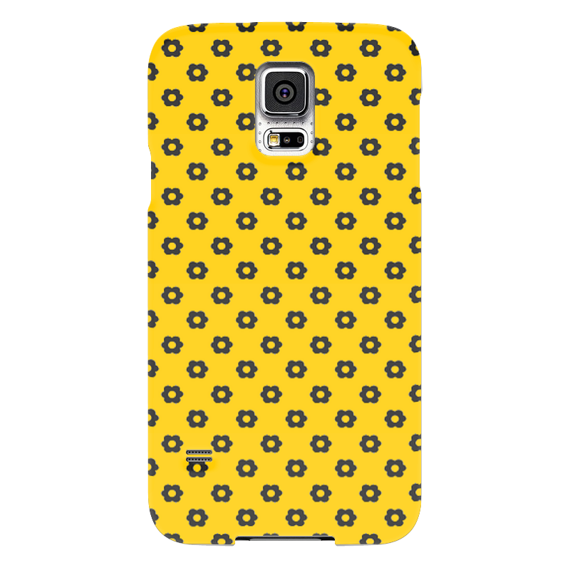 Чехол для Samsung Galaxy S5 Printio Black flower чехол для samsung galaxy s5 printio череп художник