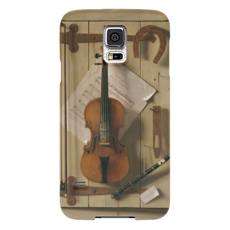 Чехол для Samsung Galaxy S5 Printio Натюрморт со скрипкой (уильям харнетт) пазл castor land 68 47см натюрморт со скрипкой и живописью 1000эл