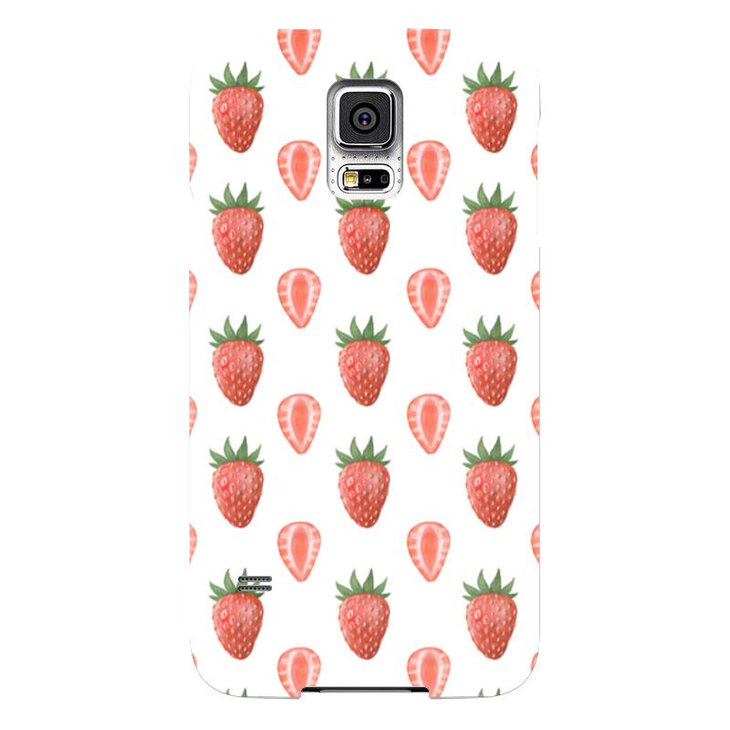 Чехол для Samsung Galaxy S5 Printio Акварельная клубника чехол для samsung galaxy s5 printio стимпанк голова