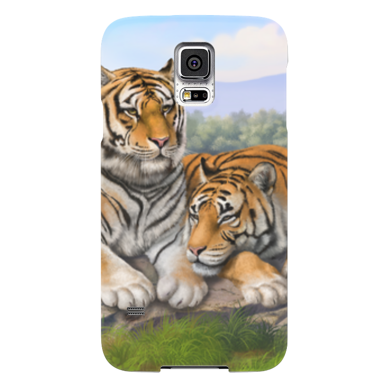 Чехол для Samsung Galaxy S5 Printio Тигры чехол для samsung galaxy s5 printio череп художник