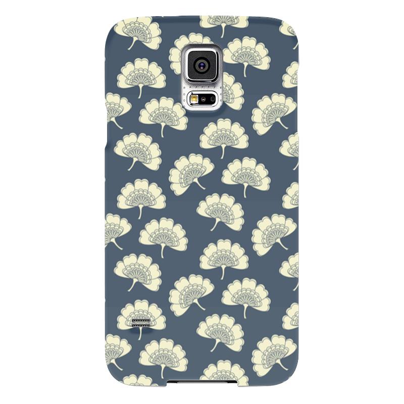 Чехол для Samsung Galaxy S5 Printio Цветочный чехол для карточек пионы на синем фоне дк2017 113