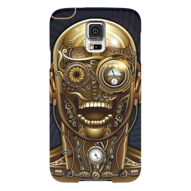 Чехол для Samsung Galaxy S5 Printio Стимпанк-голова чехол для samsung galaxy s5 printio череп