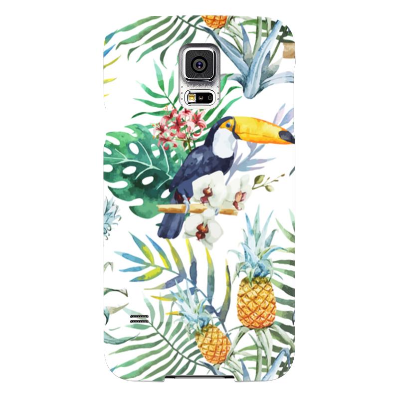 Чехол для Samsung Galaxy S5 Printio Тропические птицы чехол для samsung galaxy s5 printio композиция в сером