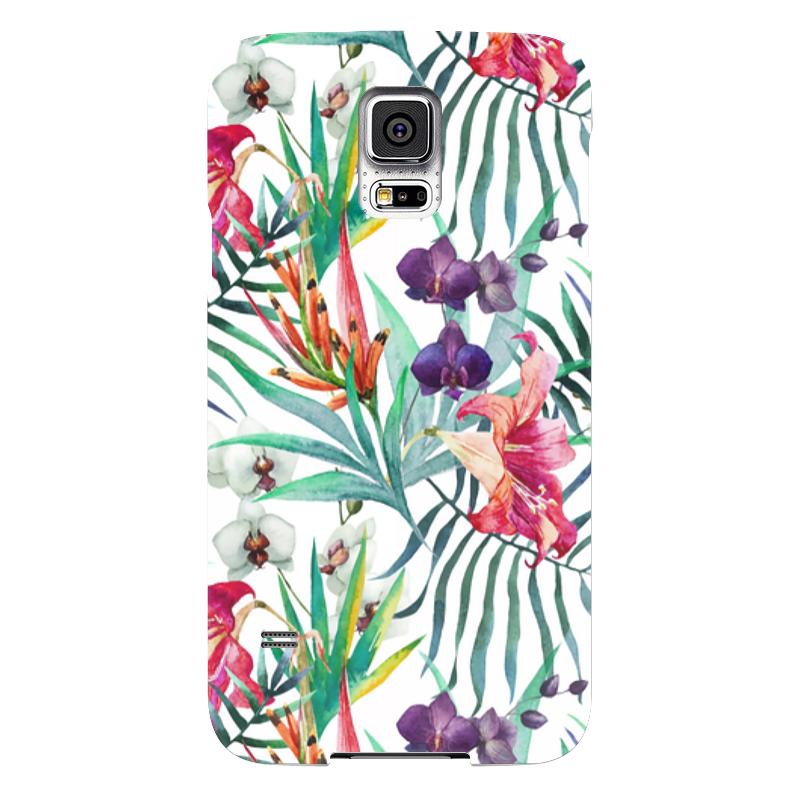Чехол для Samsung Galaxy S5 Printio Тропические цветы чехол для samsung galaxy s5 printio skull