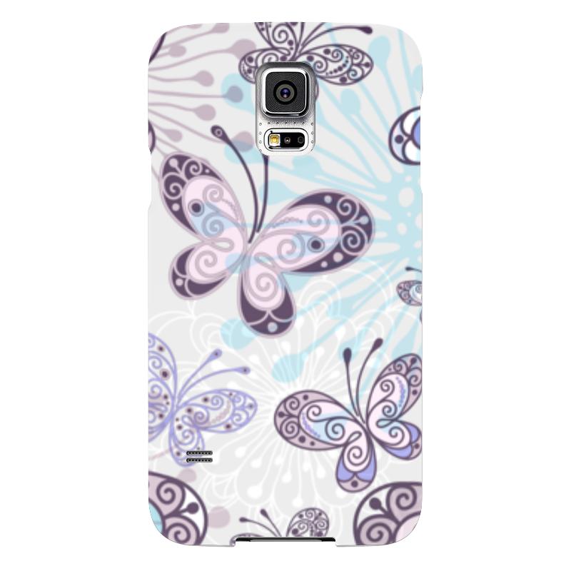 Чехол для Samsung Galaxy S5 Printio Фиолетовые бабочки чехол для samsung galaxy s5 printio череп художник