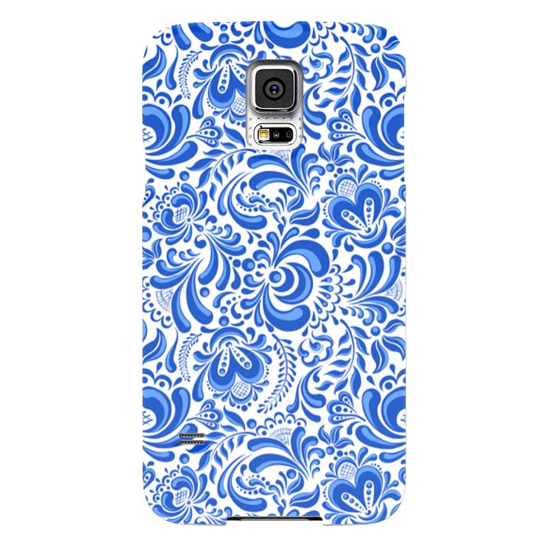 Чехол для Samsung Galaxy S5 Printio Гжель samsung g900h galaxy s5 16гб белый в омске