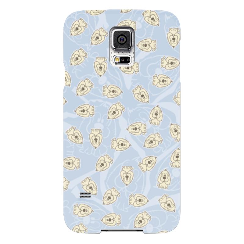 Чехол для Samsung Galaxy S5 Printio Собачки компьютерный синие собачки