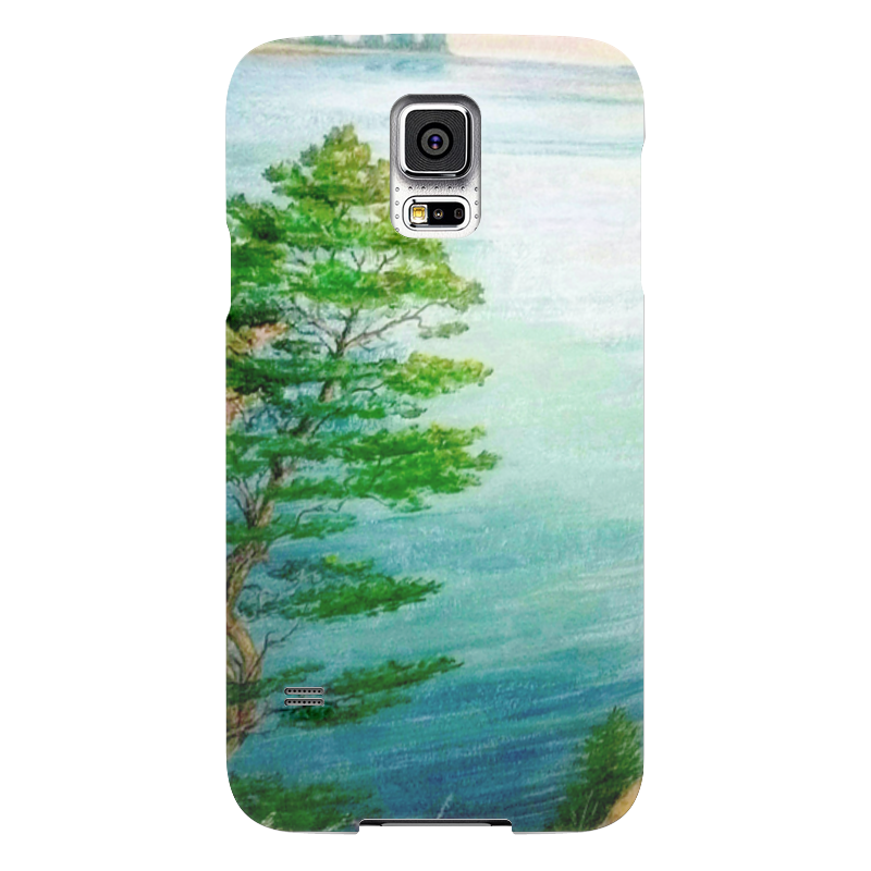 Чехол для Samsung Galaxy S5 Printio Песчаный берег чехол для samsung galaxy s5 printio череп художник