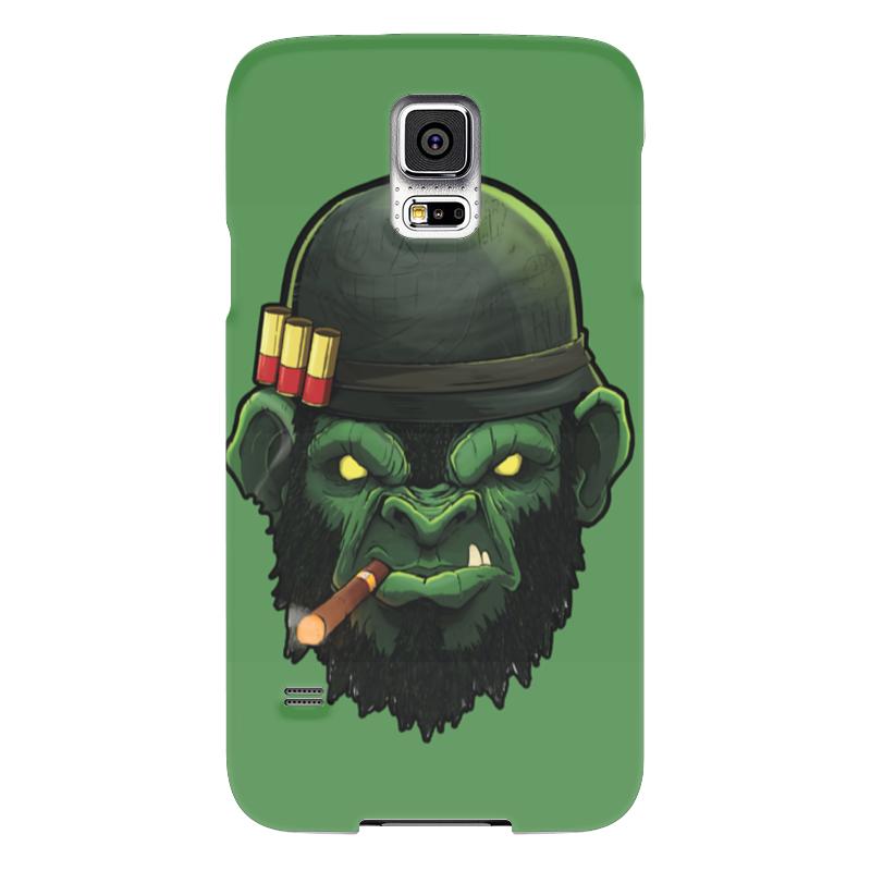 Чехол для Samsung Galaxy S5 Printio War monkey/обезьяна samsung g900h galaxy s5 16гб белый в омске