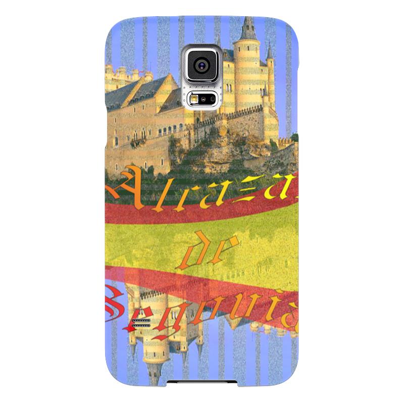 Чехол для Samsung Galaxy S5 Printio Средневековой испанский замок сеговия. deroace велосипедный цепной стальной замок для электрокара электро мотороллера мотора