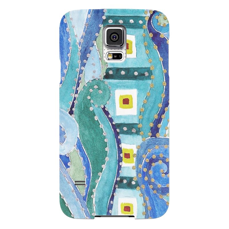 Чехол для Samsung Galaxy S5 Printio Голубой узор чехол для samsung galaxy s5 printio череп художник