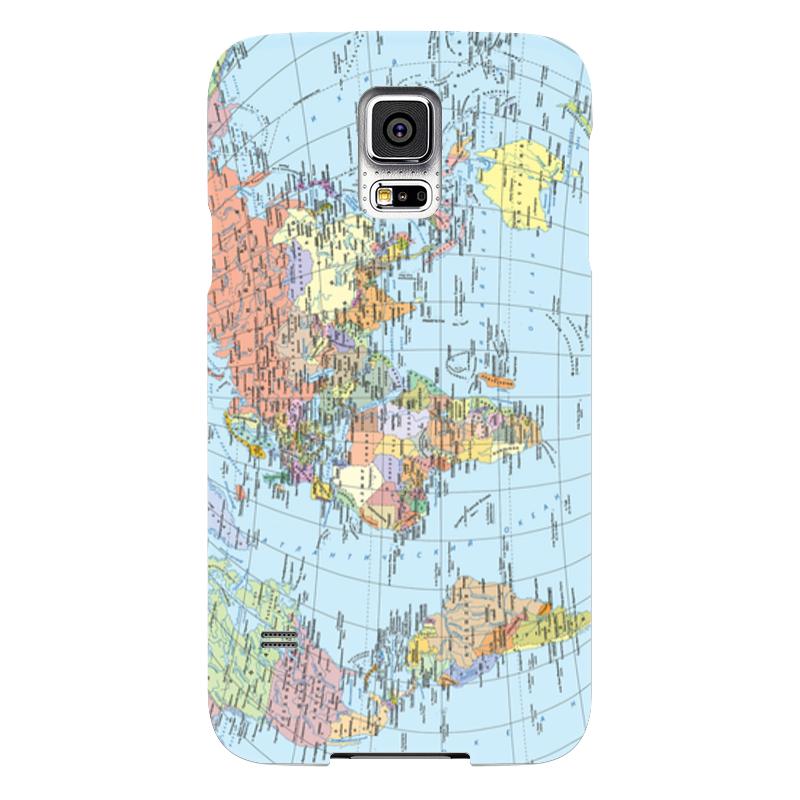 Чехол для Samsung Galaxy S5 Printio Карта мира samsung g900h galaxy s5 16гб белый в омске