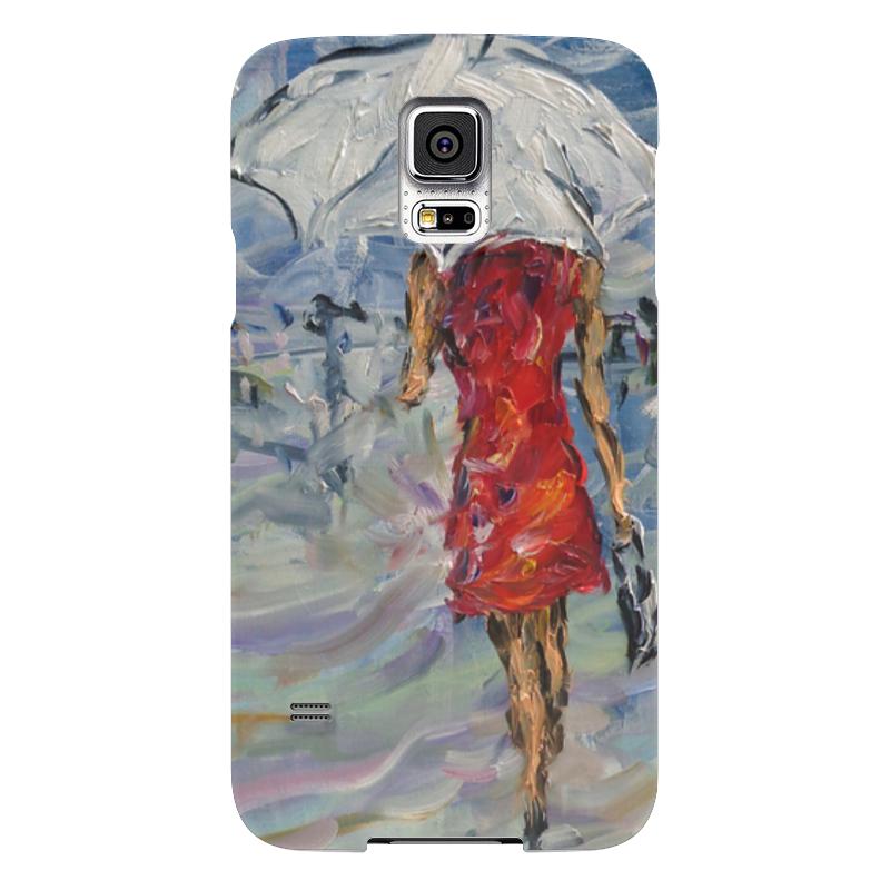 Чехол для Samsung Galaxy S5 Printio Девушка в красном куплю еврозаборы в красном луче