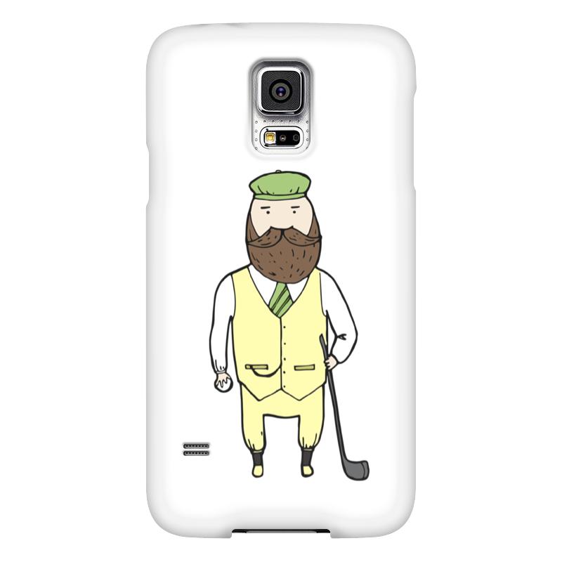 Чехол для Samsung Galaxy S5 Printio Джентльмен с клюшкой для гольфа чехол для samsung galaxy s5 printio череп художник