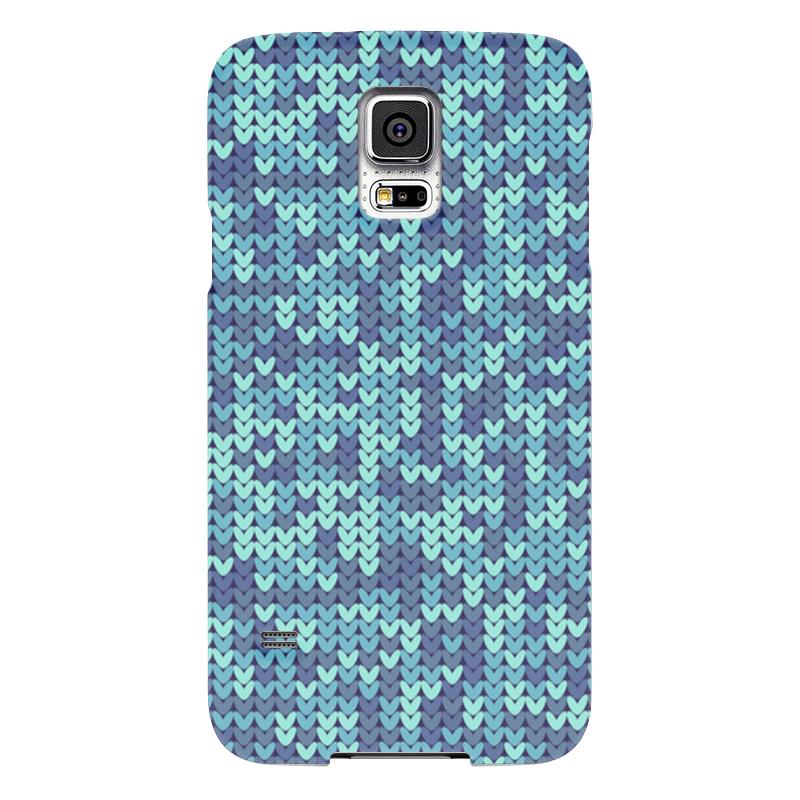Чехол для Samsung Galaxy S5 Printio Голубой вязаный узор чехол для samsung galaxy s5 printio череп художник