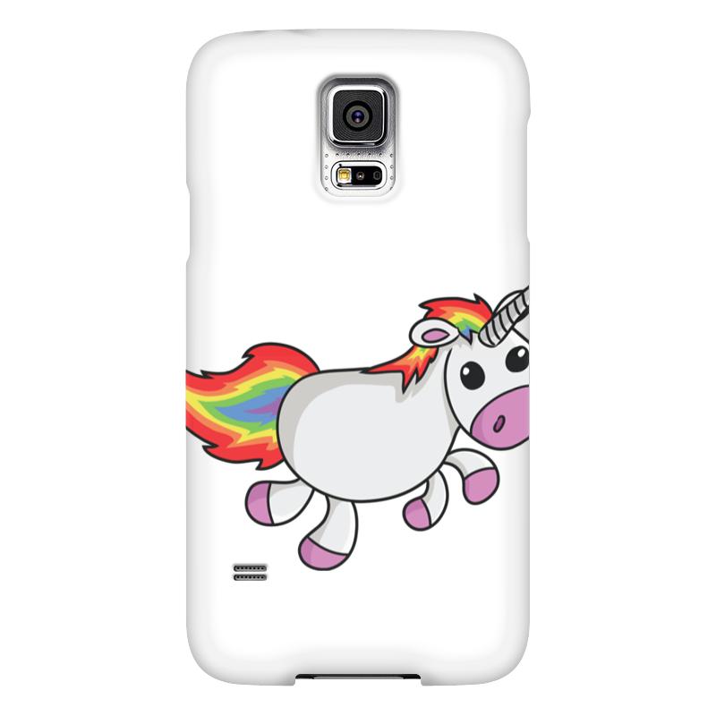 Чехол для Samsung Galaxy S5 Printio Единорог радужный чехол jekod для samsung galaxy s5 белый