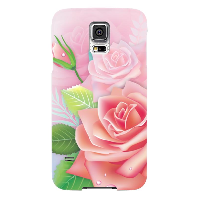 Чехол для Samsung Galaxy S5 Printio Розочка samsung g900h galaxy s5 16гб белый в омске