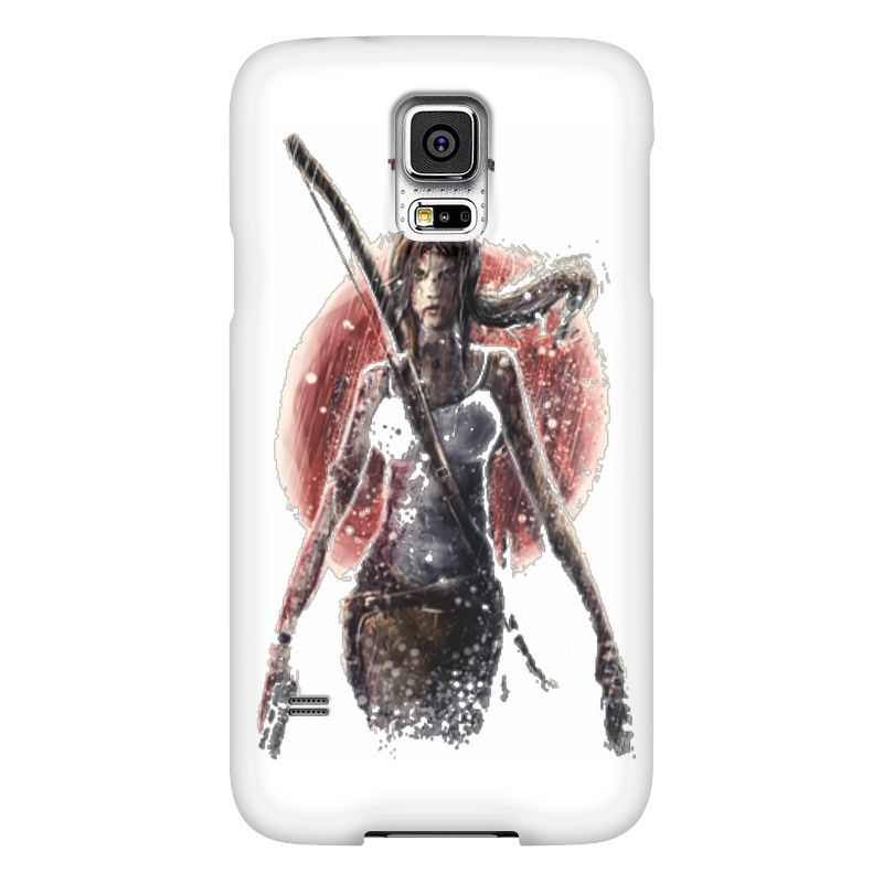 Чехол для Samsung Galaxy S5 Printio Лара крофт чехол для samsung galaxy s5 printio череп художник