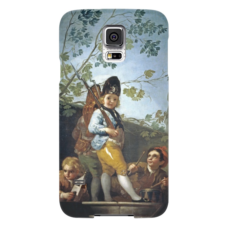 Чехол для Samsung Galaxy S5 Printio Мальчики играют в солдат samsung g900h galaxy s5 16гб белый в омске