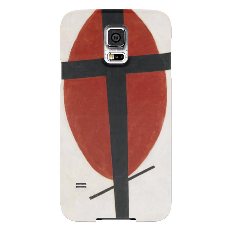 Чехол для Samsung Galaxy S5 Printio Супрематизм (черный крест на красном овале) чехол для samsung galaxy s5 printio череп художник