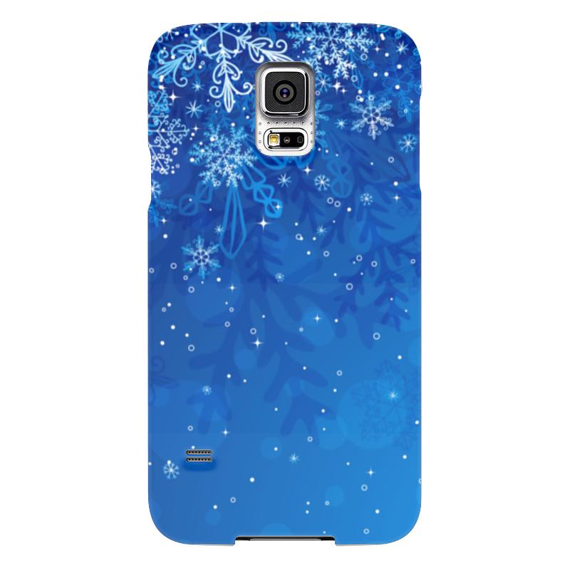 Чехол для Samsung Galaxy S5 Printio Снежинки чехол для samsung galaxy s5 printio череп художник