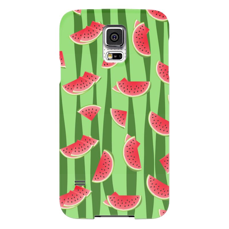 Чехол для Samsung Galaxy S5 Printio Арбуз чехол для карточек фламинго на зеленом фоне дк2017 099