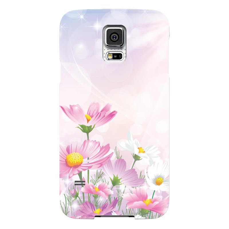 Чехол для Samsung Galaxy S5 Printio Цветочки чехол для samsung galaxy s5 printio череп художник